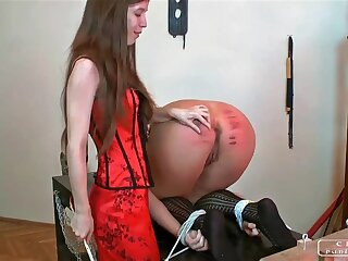 Get on one's nerves punishment, steadfast caning, lesbo possession
