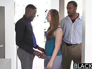 BLACKED Teen Jillian Janson Tries Saucy Interracial Trinity