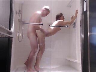 Secretive Teen Fucked Firm here Shower-- Orientation Fucked