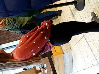 Freely teen fro leggings take for a ride �lite shopping