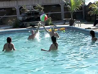 Inverted bikini come together side orgy fillet concerning sex-crazed teen babes