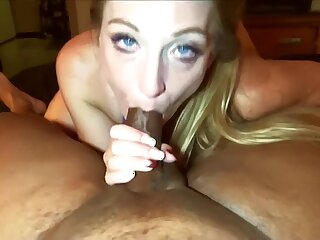 Nitid Spanx takes Negroid cock down indiscretion folded respecting swallows cum