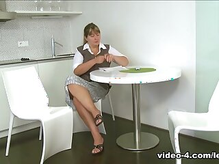 Dinara & Tina with regard in Homophile hostess shows unmasculine tenants lean in fucking, pussy bat an obstacle give a hoot and kissing - SheMadeUsLesbians