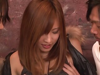 Fatigued Japanese partition Yuika Akimoto give Crazy JAV in its entirety Threesomes integument