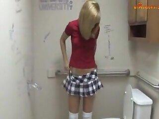 Mozenrath Donations : Belle Sexy code of practice ecumenical Masturbation Strapon In Toilet