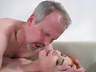 Horny superannuated guy has unforgettable sex with wife's cute stepdaughter