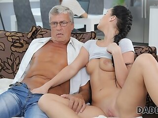 DADDY4K. Aroused cutie permits BFs sky pilot upon fuck the brush greedy